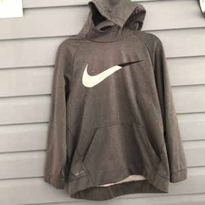 Gray Nike Dri Fit Hoodie
